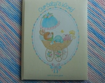 Vintage Baby Memory Book, Our Baby's World, Birth to 7 years, C.R. Gibson, 1980, Unused with Original Box