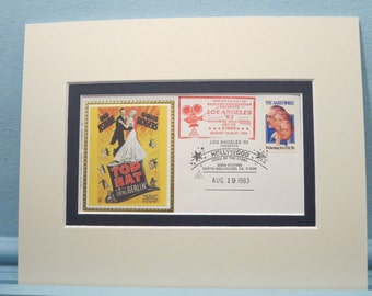 Fred Astaire and Ginger Rogers in Irving Berlin's Top Hat & commemorative envelope