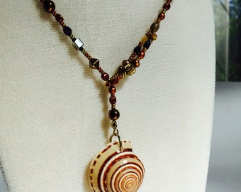 Natural Shell Lariat Necklace