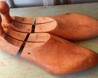Vintage Wooden Shoe Molds!