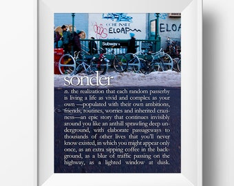 Sonder Hipster Inspirational Quote 8x10 Poster Print