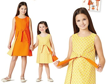 Simplicity Sewing Pattern 8104 Child's and Girls' Jiffy Reversible Wrap Dress