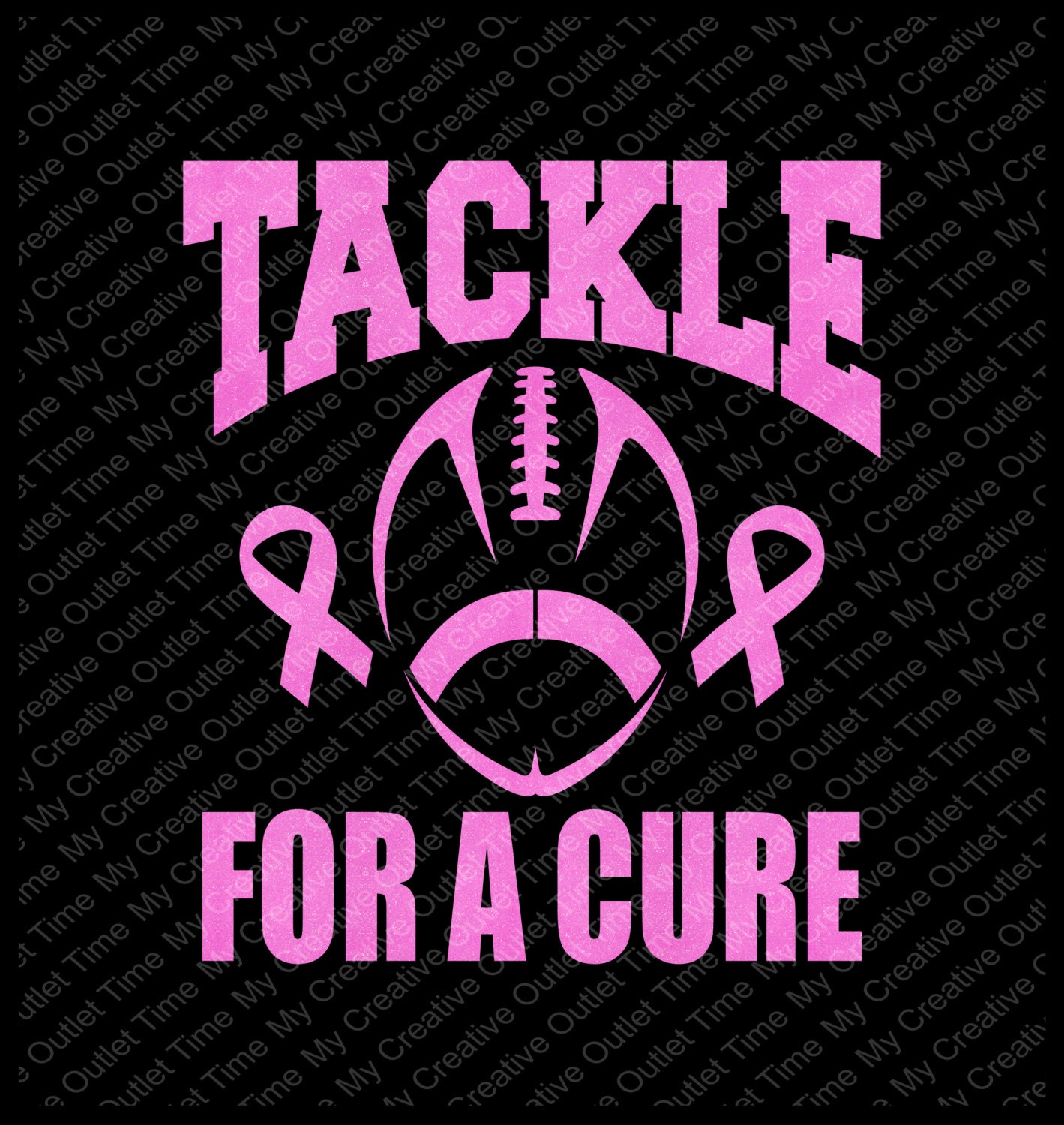 custom tackle cancer or tackle for a cure football breast Ribbon Vector Black Cancer Awareness Ribbon Vector