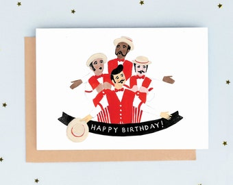 Barbershop Quartet Birthday Card