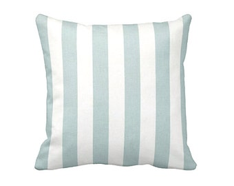 Decorative Throw Pillow Covers Light Blue Pillow Cover Powder Blue Pillows Decorative Pillows for Couch Stripe Pillows Blue Accent Pillows