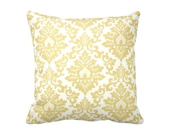 SALE | 30% OFF: Yellow Throw Pillow Covers Yellow Pillow Coves Damask Pillow Cover Sofa Pillows Decorative Pillows for Couch Euro Pillow