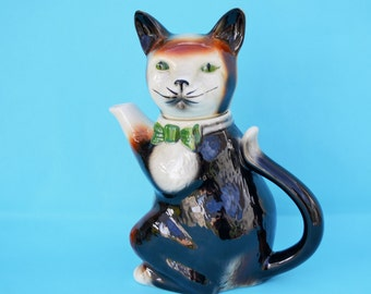 Vintage Cat Teapot Tony Wood Smart Gentleman Porcelain Cat Collectible Display Piece Cat Lovers Special Vintage Gift Kitchen Display!
