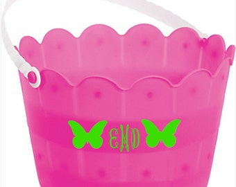 Personalized Easter Basket, Custom Easter Bucket, Monogrammed Basket