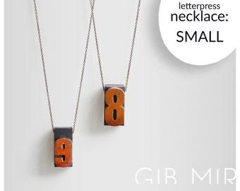 necklace - vintage letterpress (small) jewelery