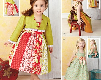 Simplicity Pattern 1331 Toddlers' Dresses and Bolero