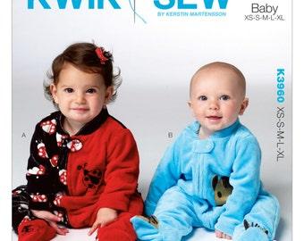 Kwik Sew Pattern K3960 Infants' Footed Jumpsuits