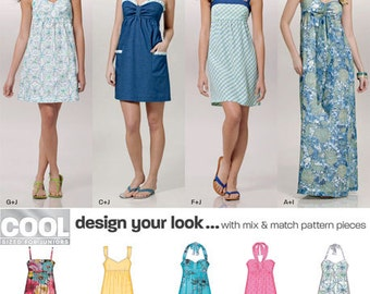 New Look Pattern 6902 Junior Design Your Look Dresses