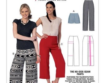 McCall's Pattern M7415 Misses' No-Side-Seam Shorts, Capris and Pants