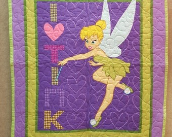 Tinkerbell Quilt Toddler Baby Blanket FREE SHIPPING!