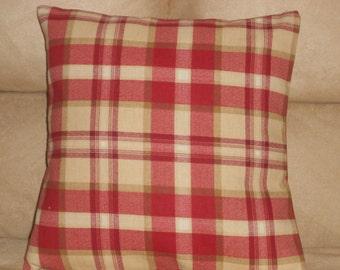 Country Plaid Pillow Etsy