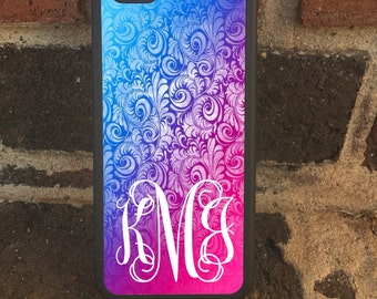 Custom Monogram Ombre for  iPhone 6/6s, 6Plus/S, 5/5s & Samsung Galaxy S6, S5, S4 Note 4 and 5 Ultra Thin phone case!!