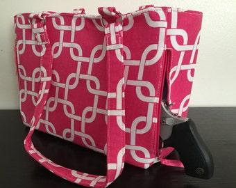 Pink Concealed Carry Handbag