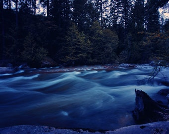 River water nature photography print, wall decor
