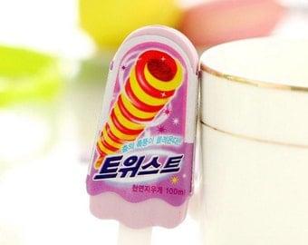 Purple Cute Popsicle Eraser