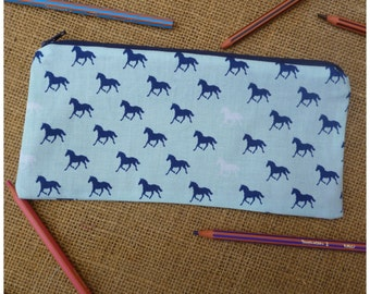 Personalised Pencil Case, Horse Pencil Case, Girls Pencil Pouch, Back to School Gift, Horse Case, Gift for Girls, Horse Gift,