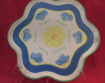 Handpainted Petal Shaped Flower Serving Platter