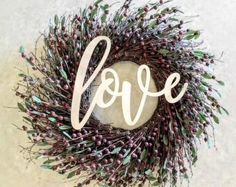 Love  Laser Cut Cursive Word Unfinished