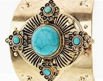 Wild Heart Turquoise Cuff