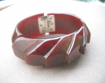 Bakelite Burgundy Bracelet