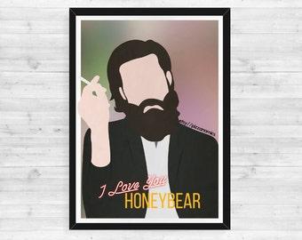 Father John Misty Poster // A3 Minimalist