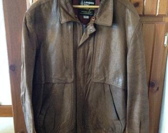 Vintage Winning Edge London Fog Leather Jacket 42 R