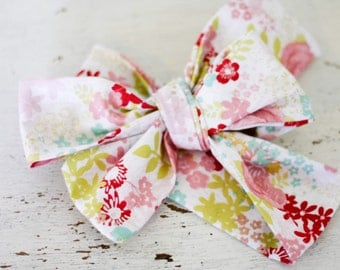 Headband;Baby headband; Rosie Wrap-headwrap; spring floral fabric head wrap; newborn headband; baby headband; toddler headband; adult headba