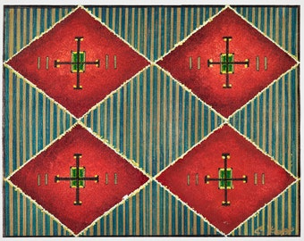 Contemporary Placemat Series - Contemporary Red Diamond