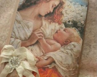 Altered Journal Vintage Mother With Baby