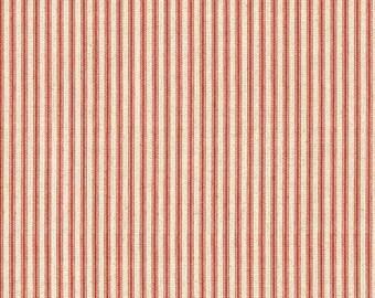 Drift Away Red Ticking Stripe Cotton Fabric, Windham Fabrics
