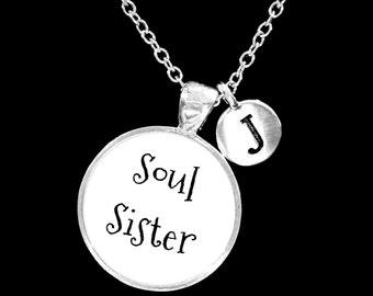 Initial Necklace, Best Friend Necklace, Soul Sister Necklace, Best Friend Gift, Sister Necklace, Gift Necklace