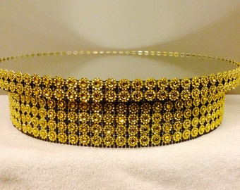 """The LaDonna Black and Gold Round Cake Stand for weddings, birthdays, showers, events, available in 8"""", 10"""", 12"""", 14"""", 16"""", Custom"""
