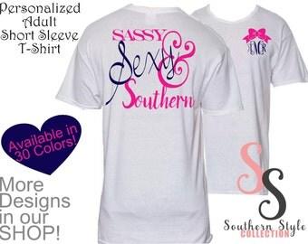 1 Adult Short Sleeve Tshirt Personalized Monogram Gift, Christmas Gift, Custom Tshirt, Personalized Gift, Monogram Tshirt, Monogram Gifts,