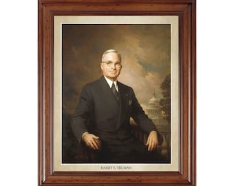 Harry Truman portrait; 16x20 print on premium heavy photo paper