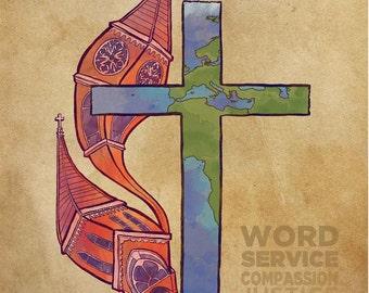 United Methodist Deacon Church & World Print