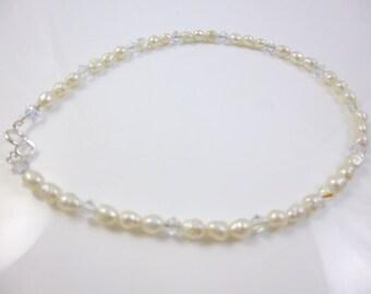 Pearl Ankle Bracelet, Freshwater Pearl Anklet, Wedding Anklet, Dainty Anklet,  Wedding Jewelry