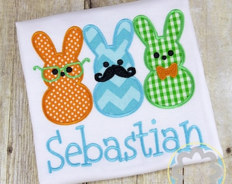 Easter Bunnies Boys Monogrammed/Personalized Shirt