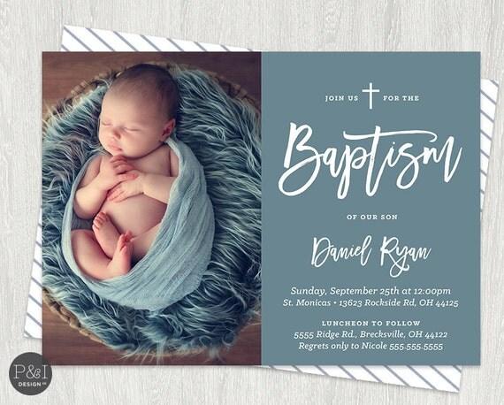 baby boy or girl baptism christening invitations diy