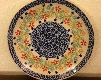 Polish Pottery Dessert/Bread Plate