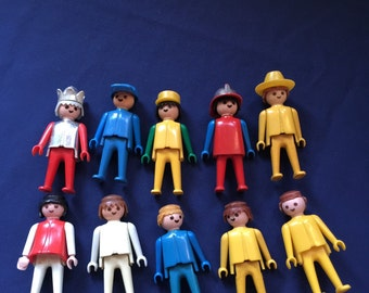 Playmobile people and accessories including two children