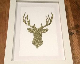 Papercut glitter stag