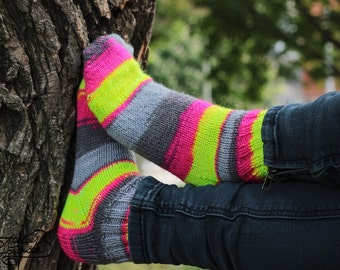 Knitted ankle socks made of wool. Hiking ankle socks