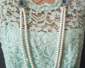Vintage Inspired Pearl Necklace- Gatsby Inspired Pearls