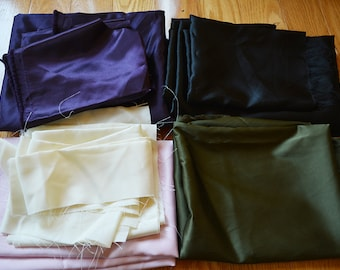 Fabric Destash Over 2lb Of Assorted Satin Fabric Remnants For Sewing Cosplay Costumes