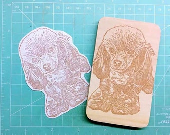 pet portrait stamp. customize stamp. rubber stamp. hand carved stamp. mounted