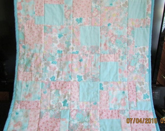 1 Flannel Baby Quilt 32 x 44